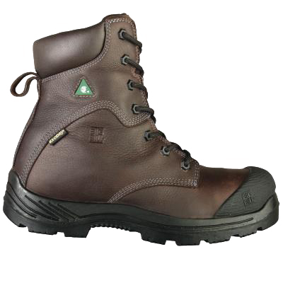 "Big Bill BB6320 8"" Safety Boots Brown Crazy Horse Leather"